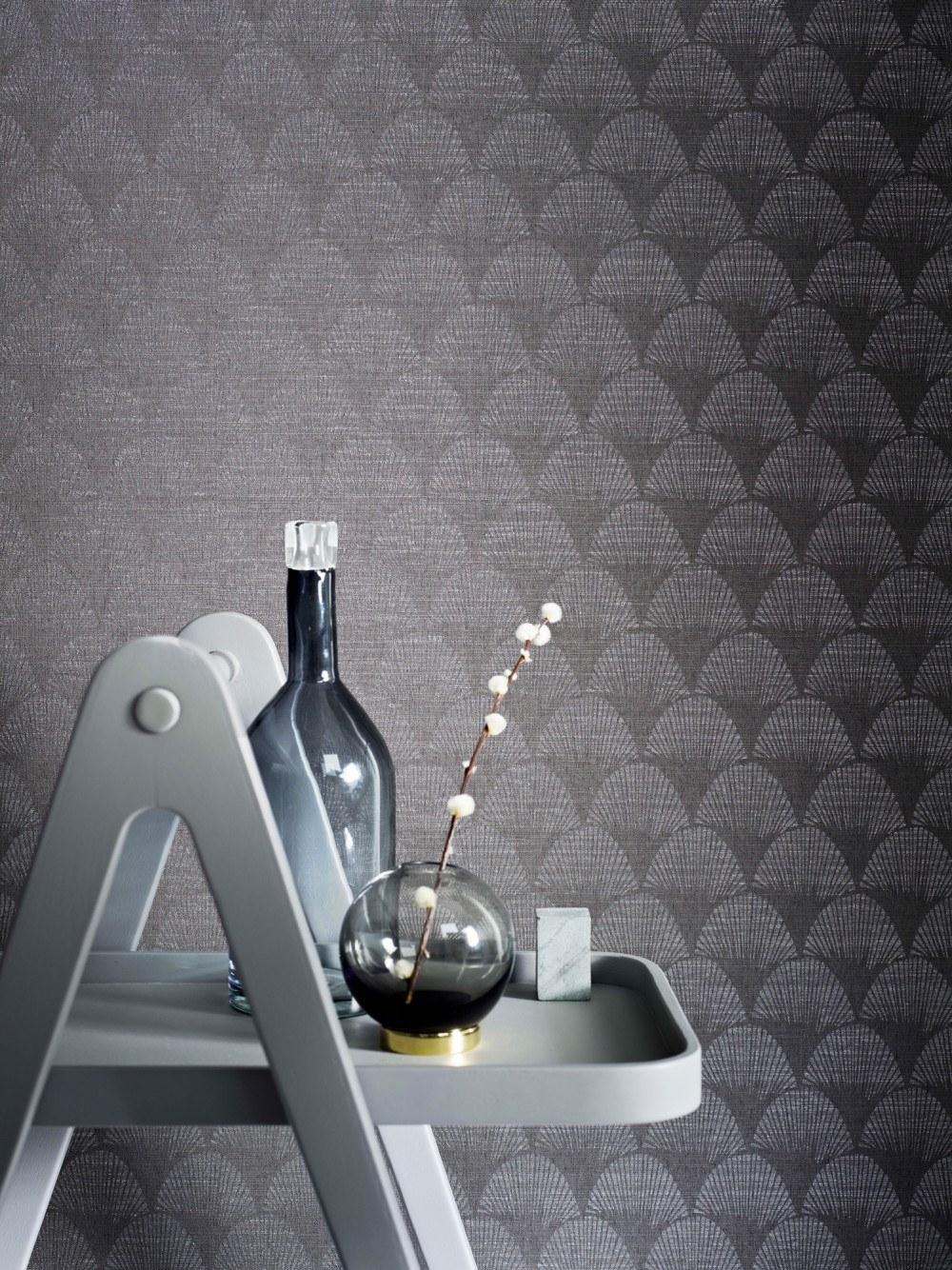 Belle Epoque - Grey tapet av Christian Fischbacher