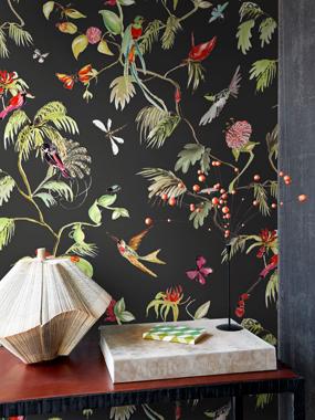 Birds, Black tapet av Designed for living