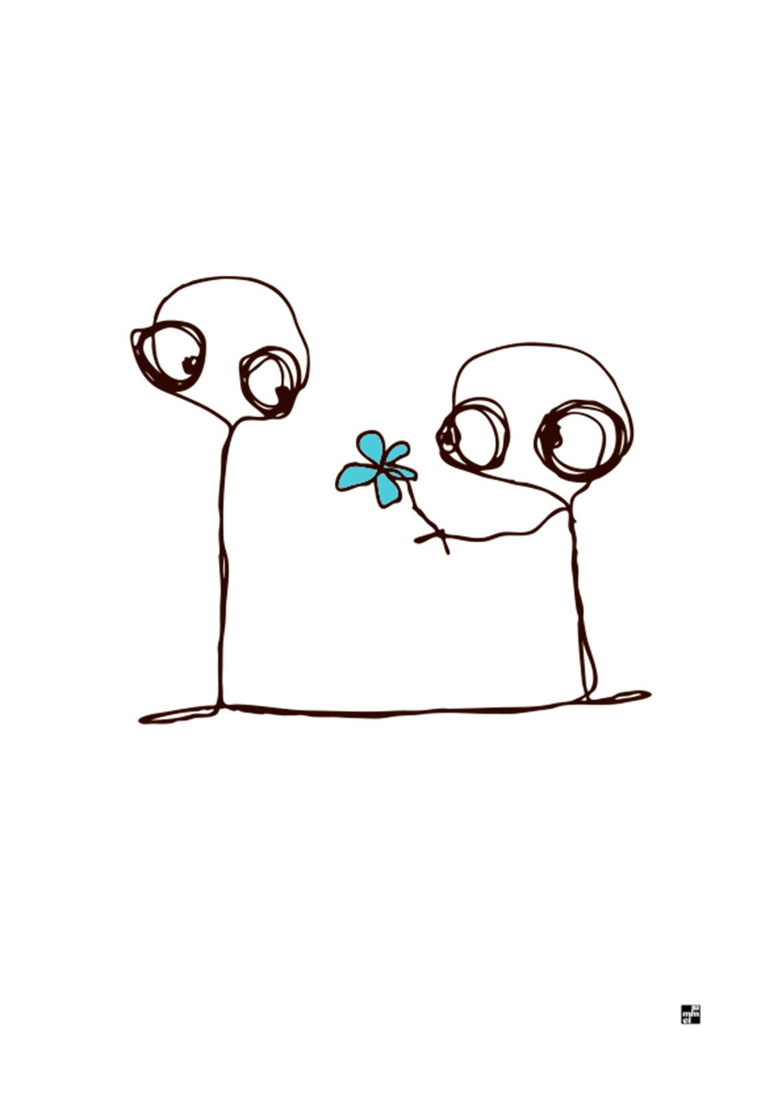 Blå blomma av jummel designstudio