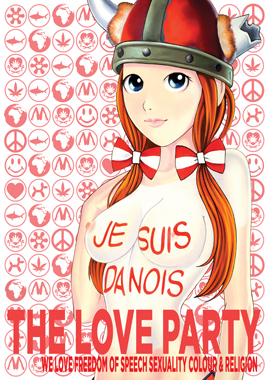 Danois av The Love Party, Poster, 60x84 cm