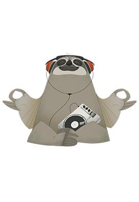 Chilling Music Sloth av ThomasWoody