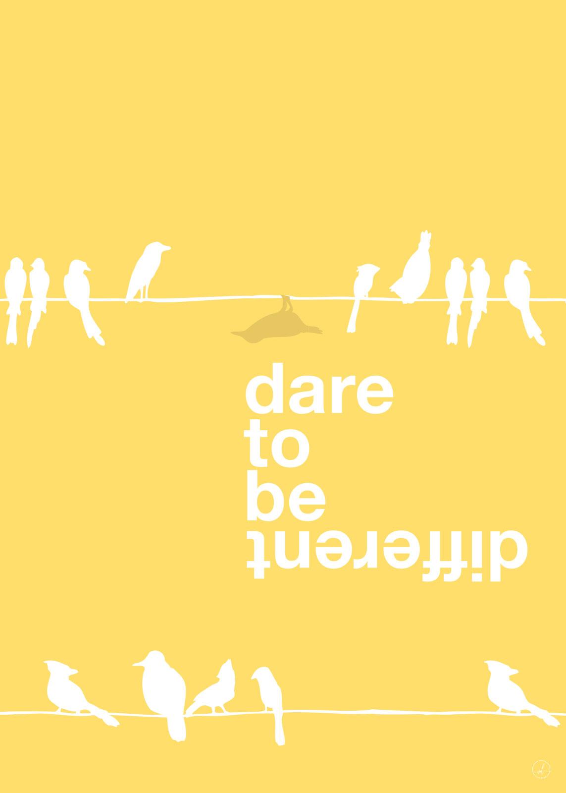 Different - Yellow av Rikke Axelsen