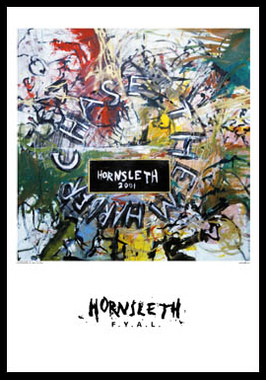 Køb Chase them harder av Hornsleth, Tryck bakom glas och ram, 50×70 cm