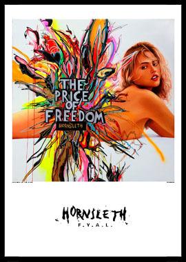Køb Price of freedom II av Hornsleth, Tryck bakom glas och ram, 50×70 cm