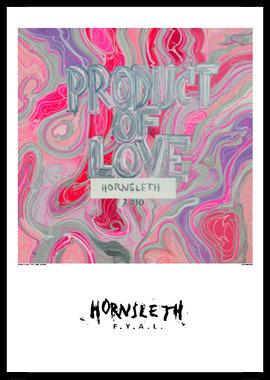 Køb Product of love av Hornsleth, Tryck bakom glas och ram, 50×70 cm