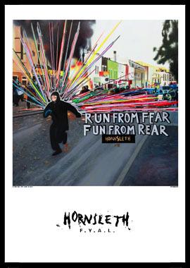 Køb Run from fear av Hornsleth, Tryck bakom glas och ram, 50×70 cm
