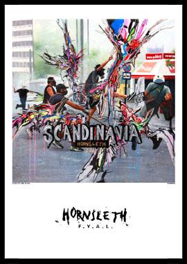 Køb Scandinavia av Hornsleth, Tryck bakom glas och ram, 50×70 cm