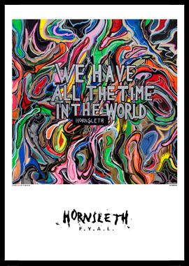 Køb We have all the time in the world av Hornsleth, Tryck bakom glas och ram, 50×70 cm