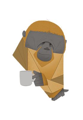 Morning coffee Orangutan av ThomasWoody