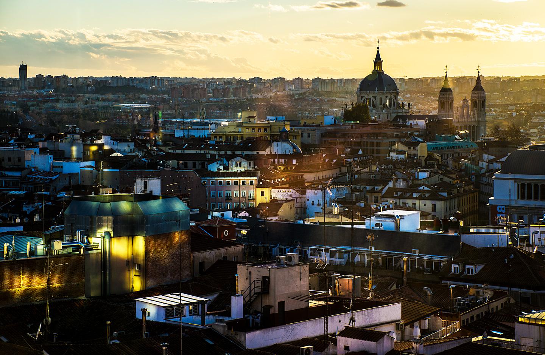 Køb Madrid Rooftop av Kirsten Stigsgaard