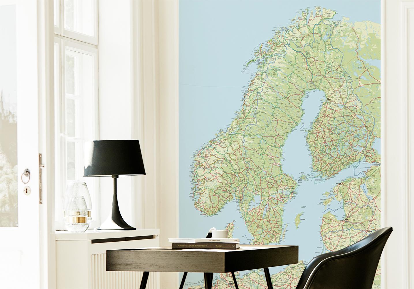 Skandinavien tapet av Illux