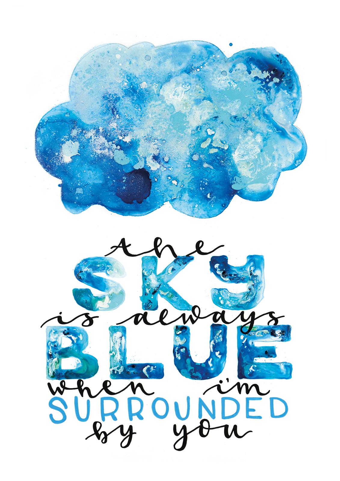 Sky blue av Nanna Nør