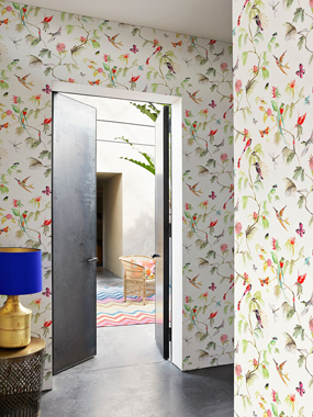 Birds, White tapet av Designed for living